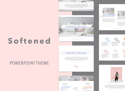 Presentation Templates: Softened Powerpoint Presentation Template #05001
