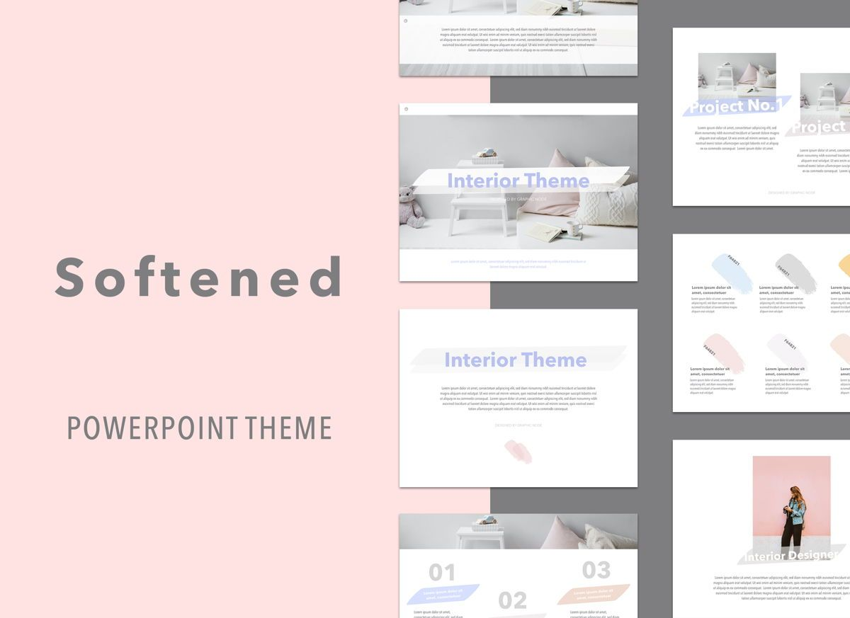 Softened Powerpoint Presentation Template, 05001, Presentation Templates — PoweredTemplate.com