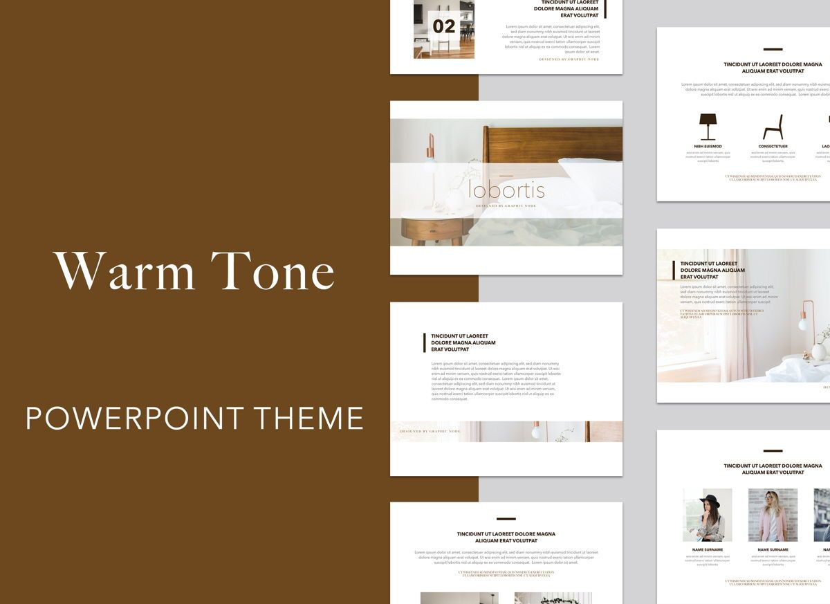 Warm Tone Powerpoint Presentation Template, 05002, Presentation Templates — PoweredTemplate.com