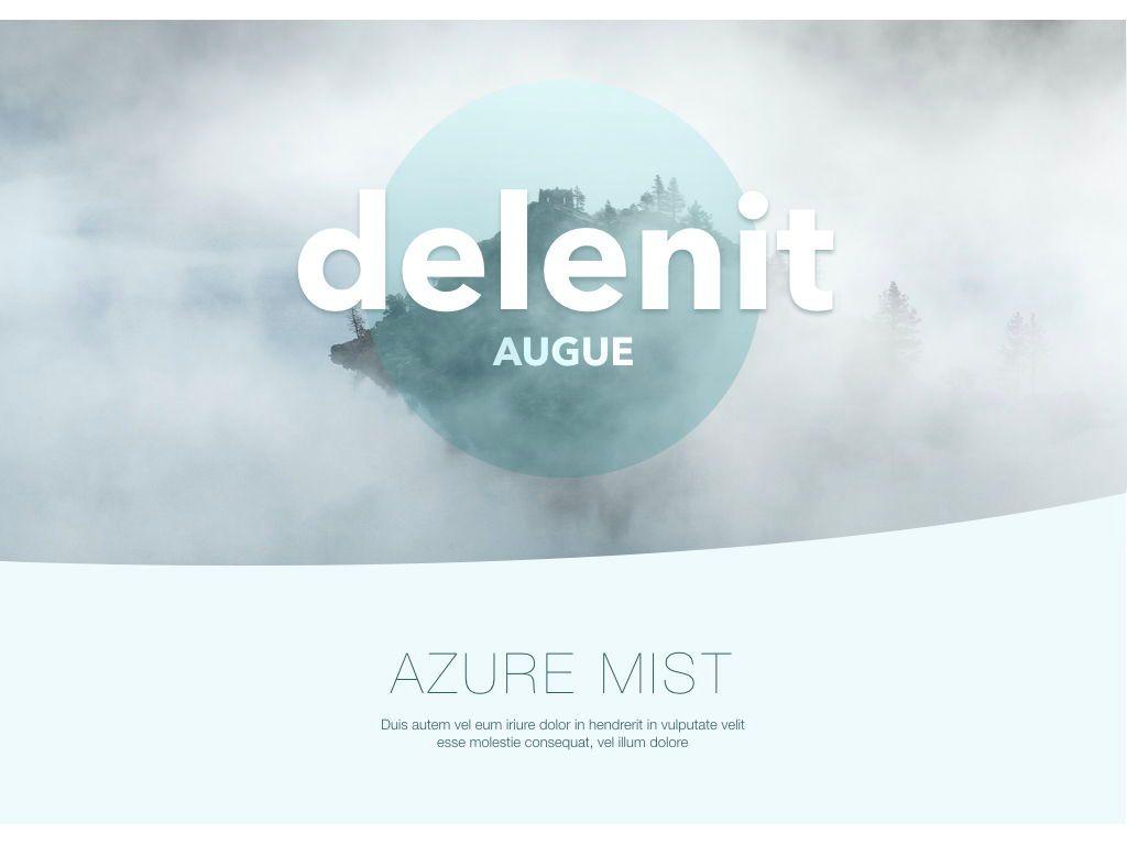 Azure Mist Keynote Presentation Template, Slide 10, 05003, Presentation Templates — PoweredTemplate.com