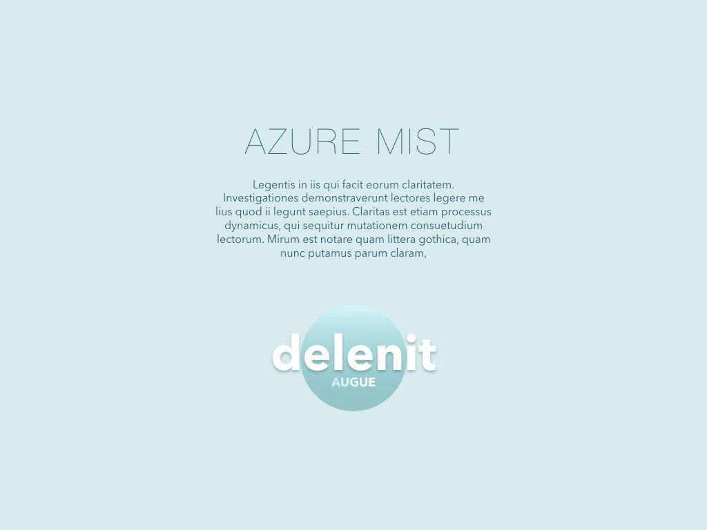 Azure Mist Keynote Presentation Template, Slide 11, 05003, Presentation Templates — PoweredTemplate.com