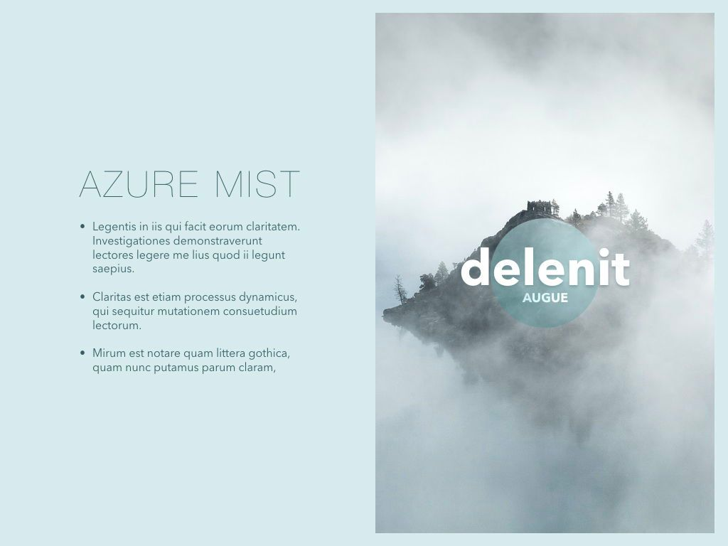Azure Mist Keynote Presentation Template, Slide 5, 05003, Presentation Templates — PoweredTemplate.com