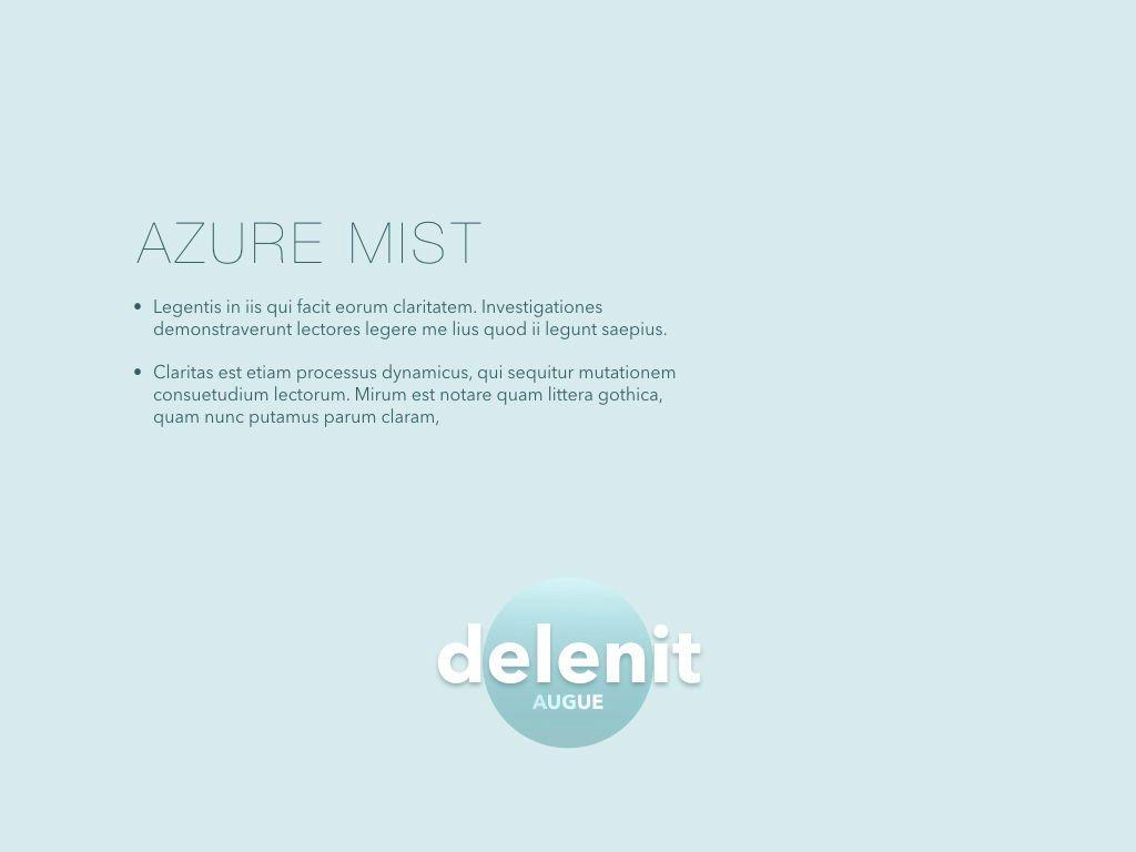 Azure Mist Keynote Presentation Template, Slide 6, 05003, Presentation Templates — PoweredTemplate.com