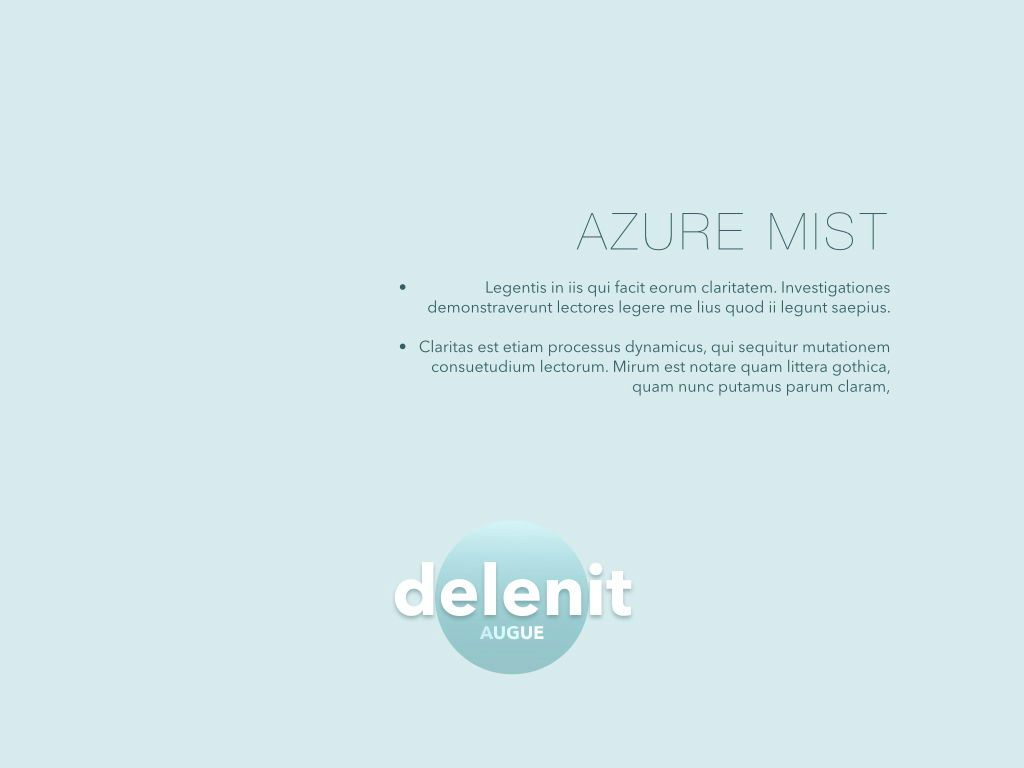 Azure Mist Keynote Presentation Template, Slide 7, 05003, Presentation Templates — PoweredTemplate.com
