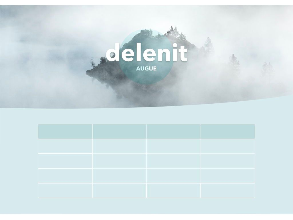 Azure Mist Keynote Presentation Template, Slide 8, 05003, Presentation Templates — PoweredTemplate.com