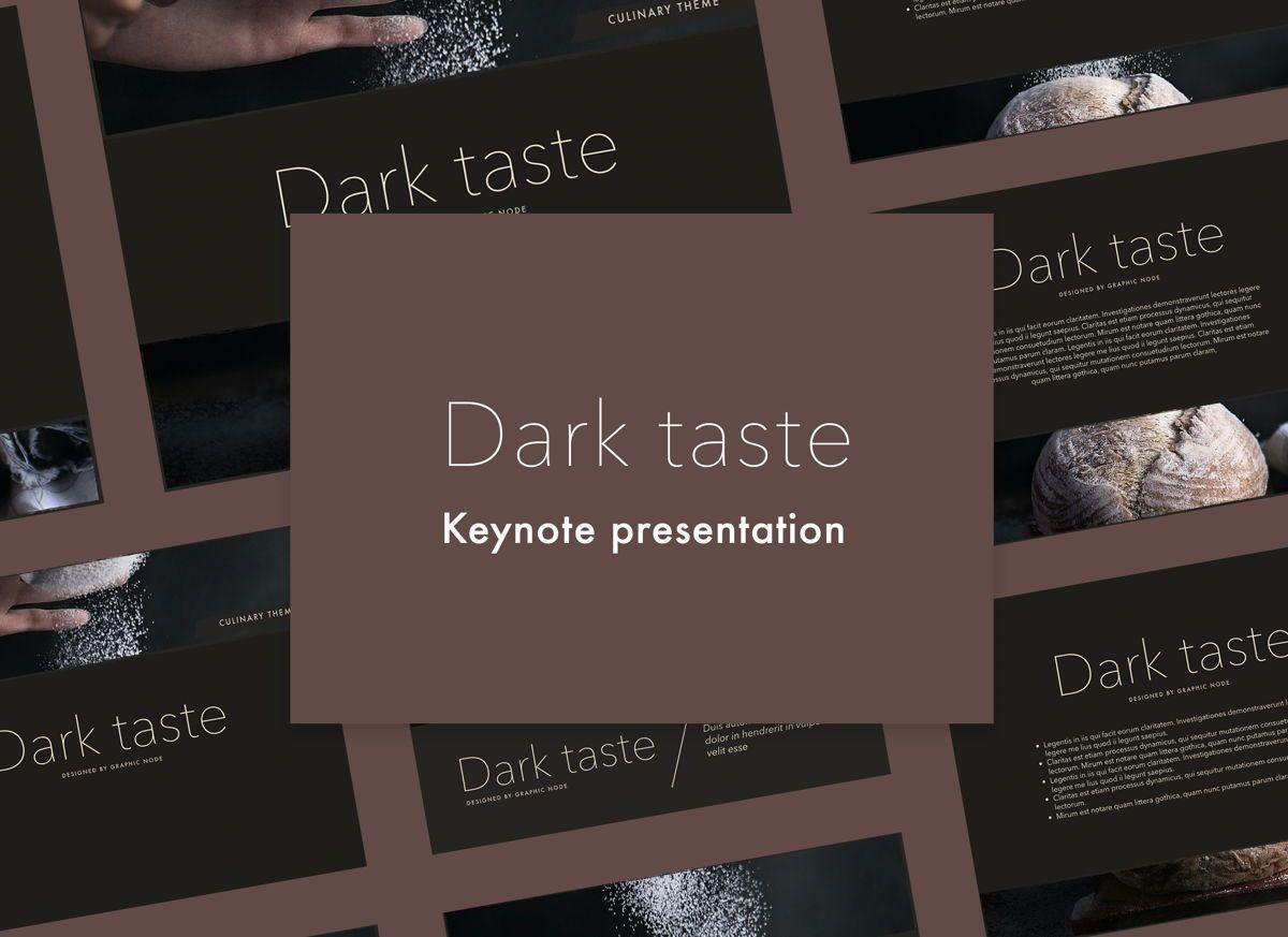 Dark Taste Keynote Presentation Template, 05004, Presentation Templates — PoweredTemplate.com