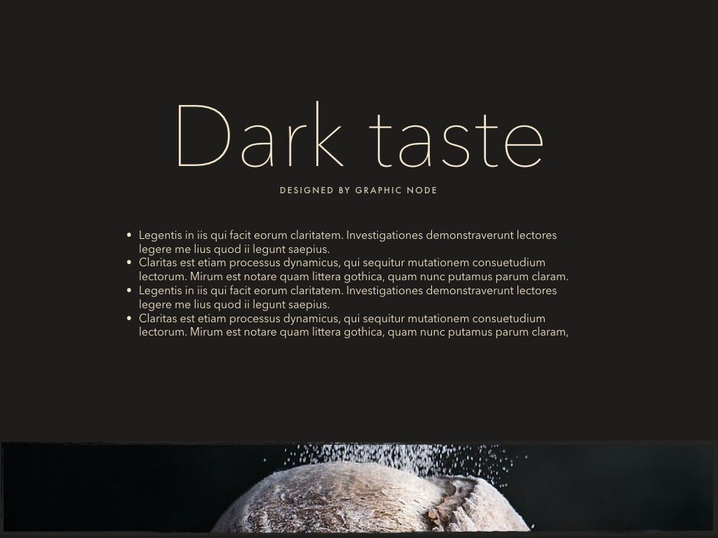 Dark Taste Keynote Presentation Template, Slide 10, 05004, Presentation Templates — PoweredTemplate.com