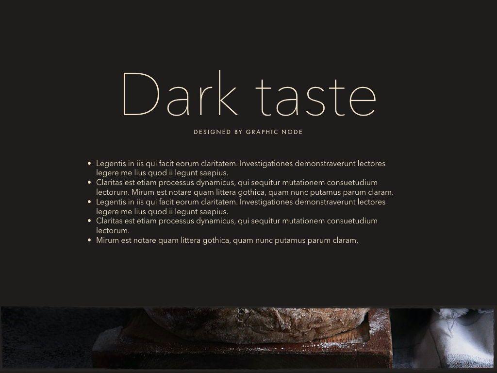 Dark Taste Keynote Presentation Template, Slide 11, 05004, Presentation Templates — PoweredTemplate.com