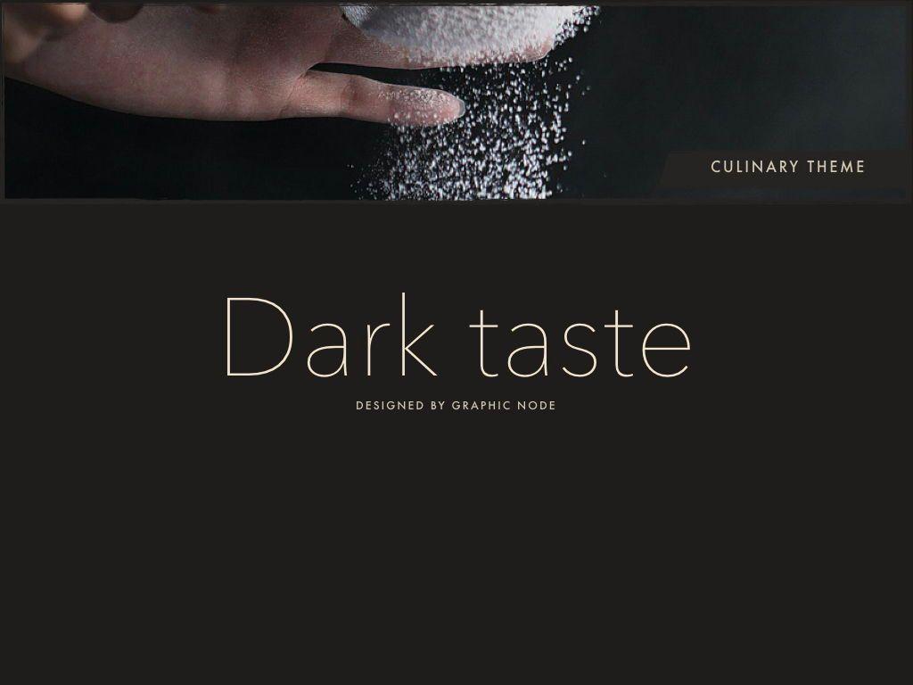 Dark Taste Keynote Presentation Template, Slide 14, 05004, Presentation Templates — PoweredTemplate.com
