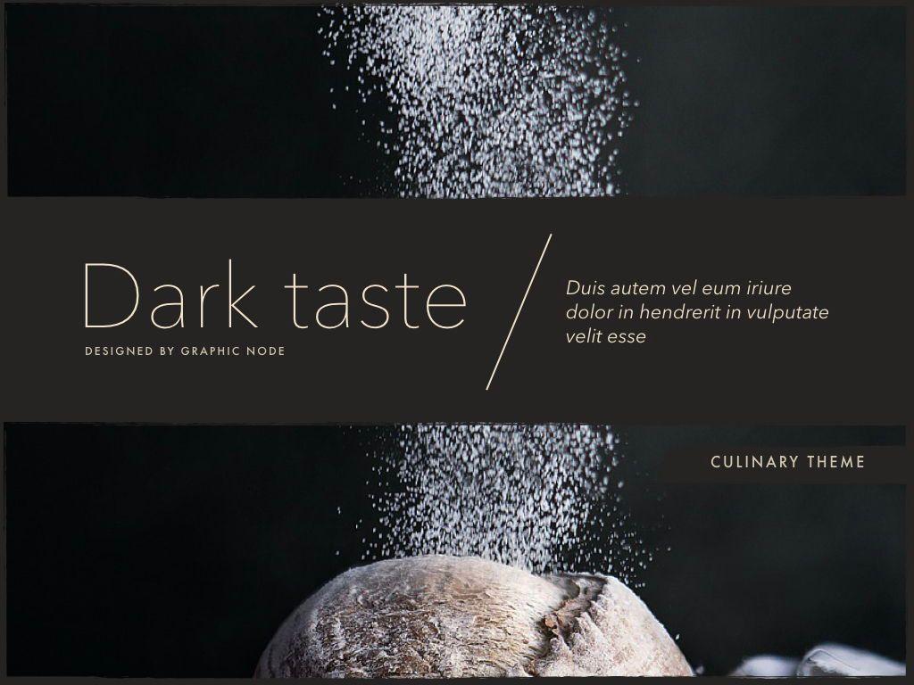 Dark Taste Keynote Presentation Template, Slide 2, 05004, Presentation Templates — PoweredTemplate.com