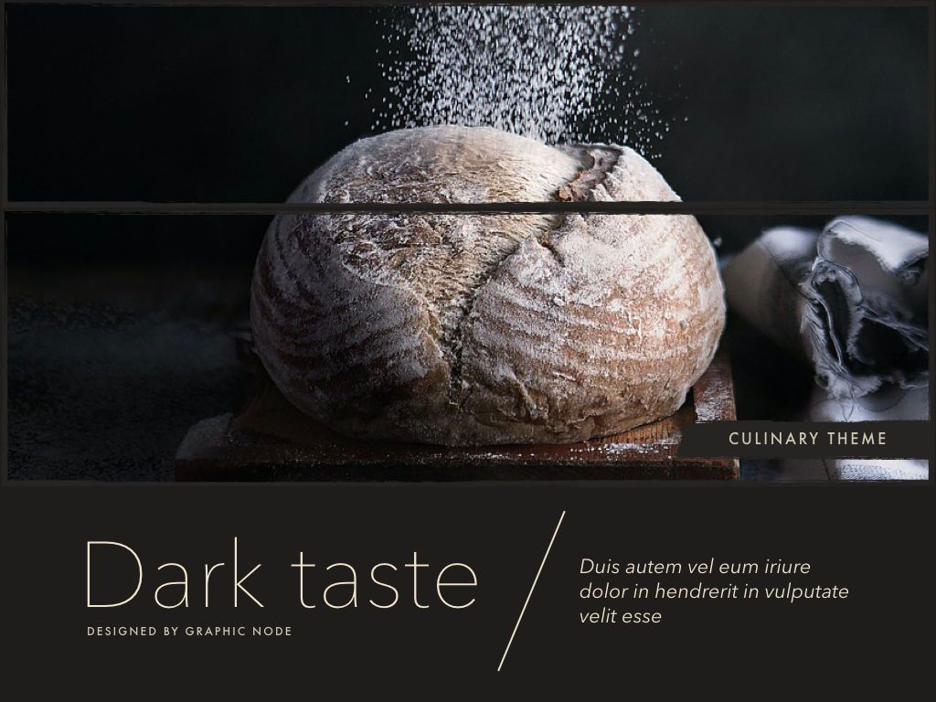 Dark Taste Keynote Presentation Template, Slide 3, 05004, Presentation Templates — PoweredTemplate.com