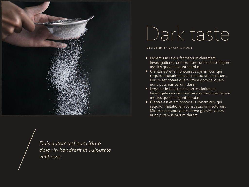 Dark Taste Keynote Presentation Template, Slide 5, 05004, Presentation Templates — PoweredTemplate.com