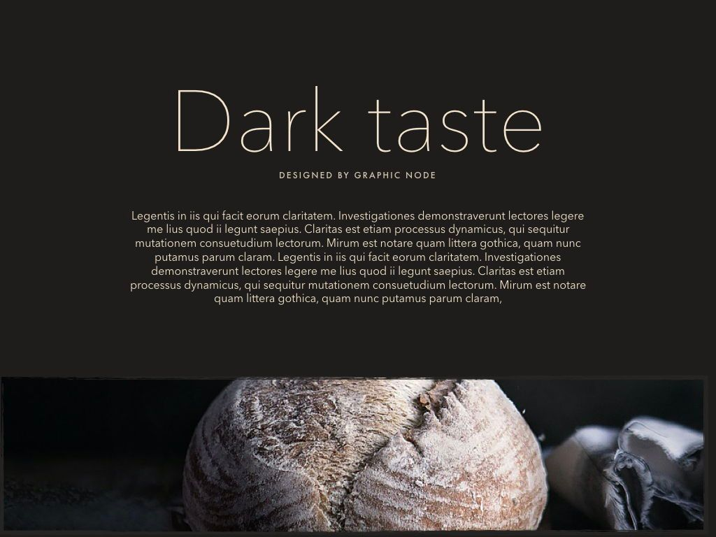 Dark Taste Keynote Presentation Template, Slide 9, 05004, Presentation Templates — PoweredTemplate.com