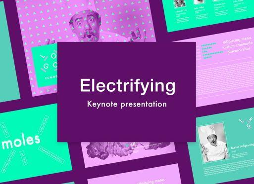 Presentation Templates: Electrifying Keynote Presentation Template #05005