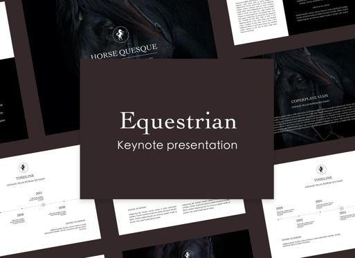 Presentation Templates: Equestrian Keynote Presentation Template #05006