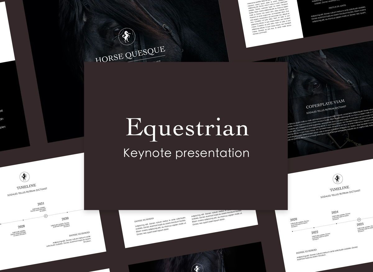 Equestrian Keynote Presentation Template, 05006, Presentation Templates — PoweredTemplate.com