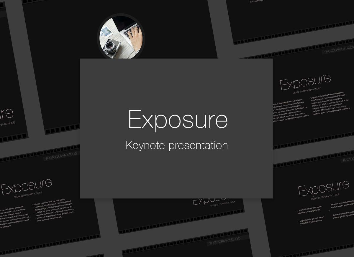 Exposure Keynote Presentation Template, 05007, Presentation Templates — PoweredTemplate.com