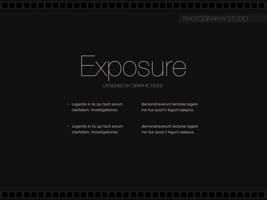 Exposure Keynote Presentation Template, Slide 4, 05007, Presentation Templates — PoweredTemplate.com