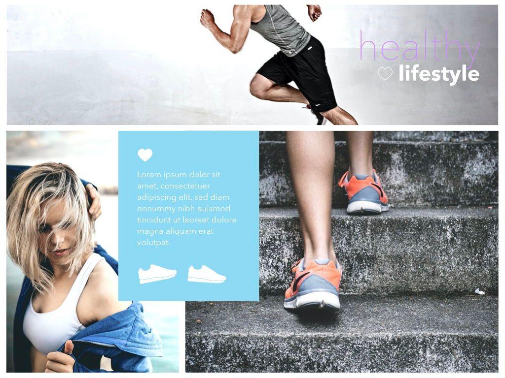 Fit Healthy Keynote Presentation Template, Slide 6, 05008, Presentation Templates — PoweredTemplate.com