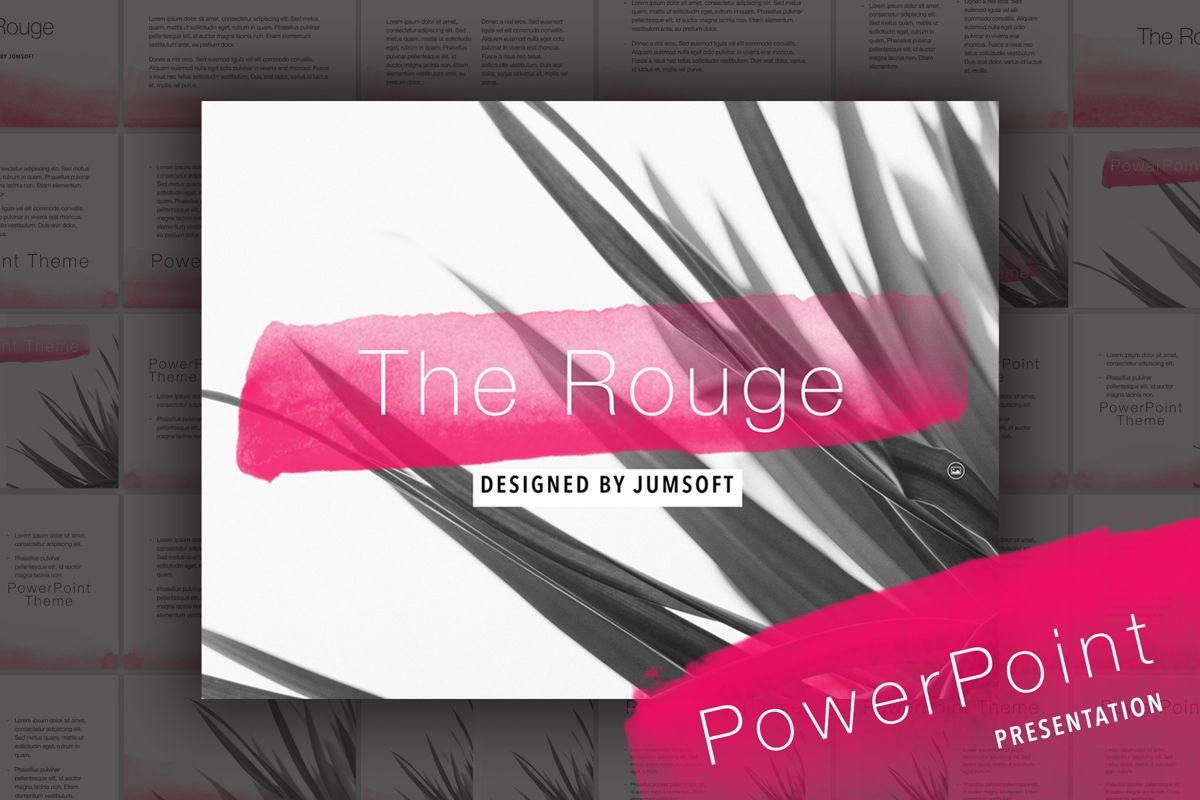 The Rouge PowerPoint Template, 05009, Education Charts and Diagrams — PoweredTemplate.com