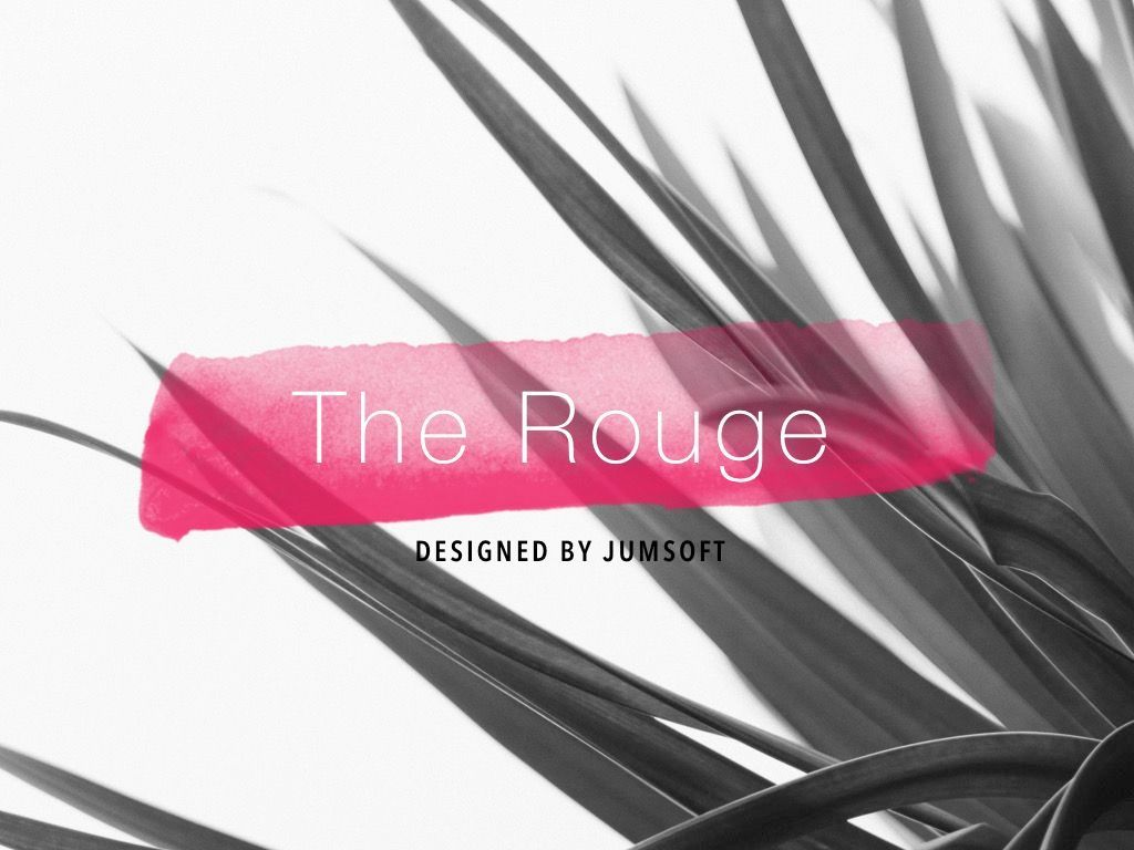 The Rouge PowerPoint Template, Slide 2, 05009, Education Charts and Diagrams — PoweredTemplate.com