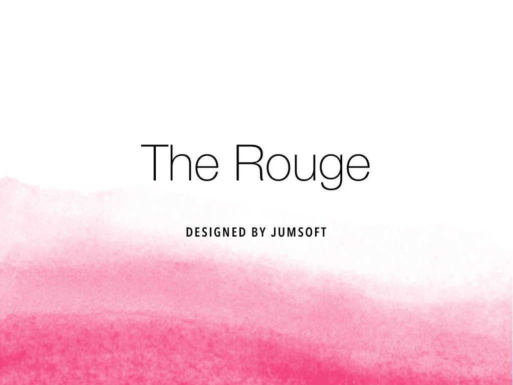 The Rouge PowerPoint Template, Slide 3, 05009, Education Charts and Diagrams — PoweredTemplate.com