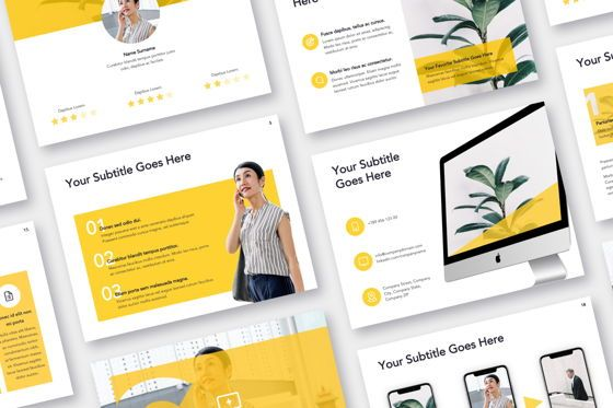 Presentation Templates: Light Solid Google Slides Template #05010