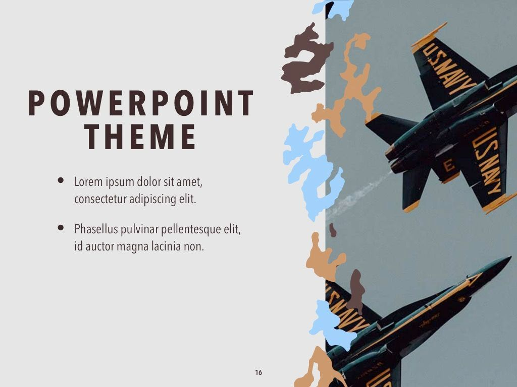 Camouflage PowerPoint Template, Slide 17, 05011, Presentation Templates — PoweredTemplate.com