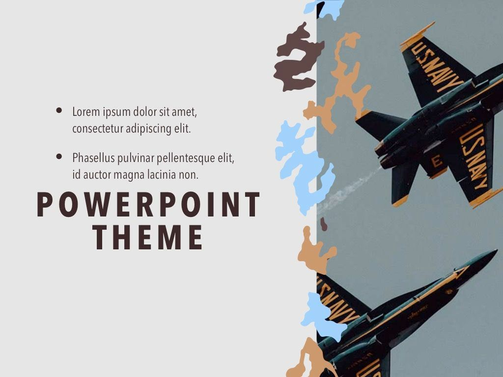 Camouflage PowerPoint Template, Slide 19, 05011, Presentation Templates — PoweredTemplate.com