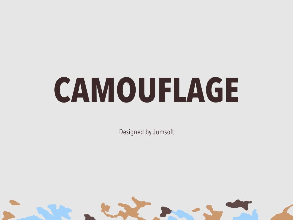 Camouflage PowerPoint Template, Slide 3, 05011, Presentation Templates — PoweredTemplate.com