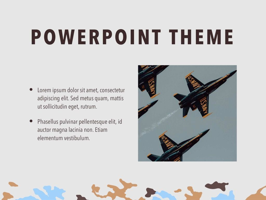 Camouflage PowerPoint Template, Slide 30, 05011, Presentation Templates — PoweredTemplate.com