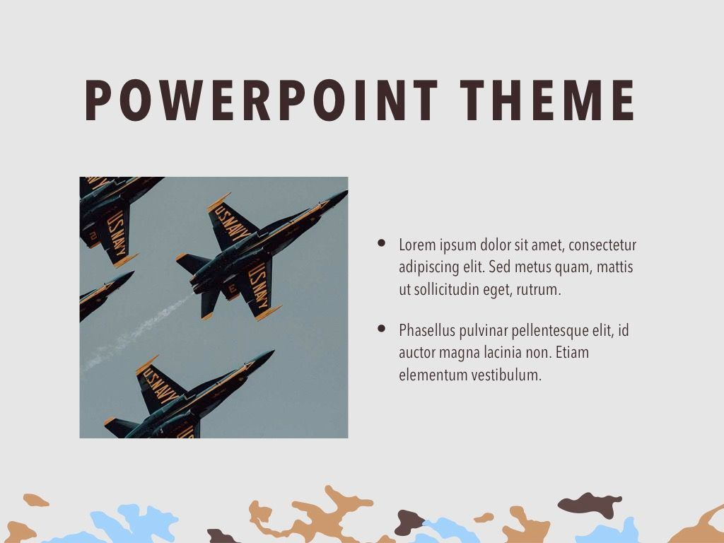 Camouflage PowerPoint Template, Slide 31, 05011, Presentation Templates — PoweredTemplate.com