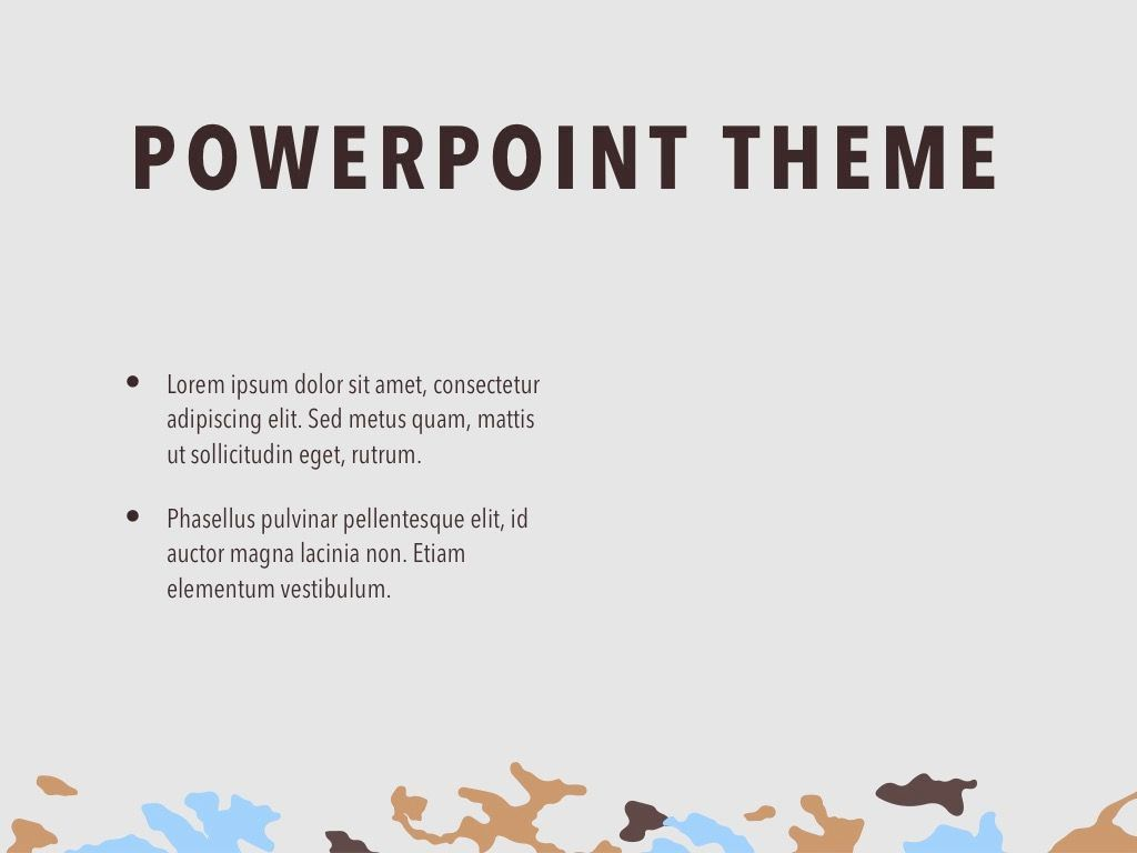 Camouflage PowerPoint Template, Slide 32, 05011, Presentation Templates — PoweredTemplate.com