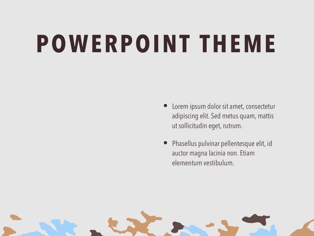 Camouflage PowerPoint Template, Slide 33, 05011, Presentation Templates — PoweredTemplate.com