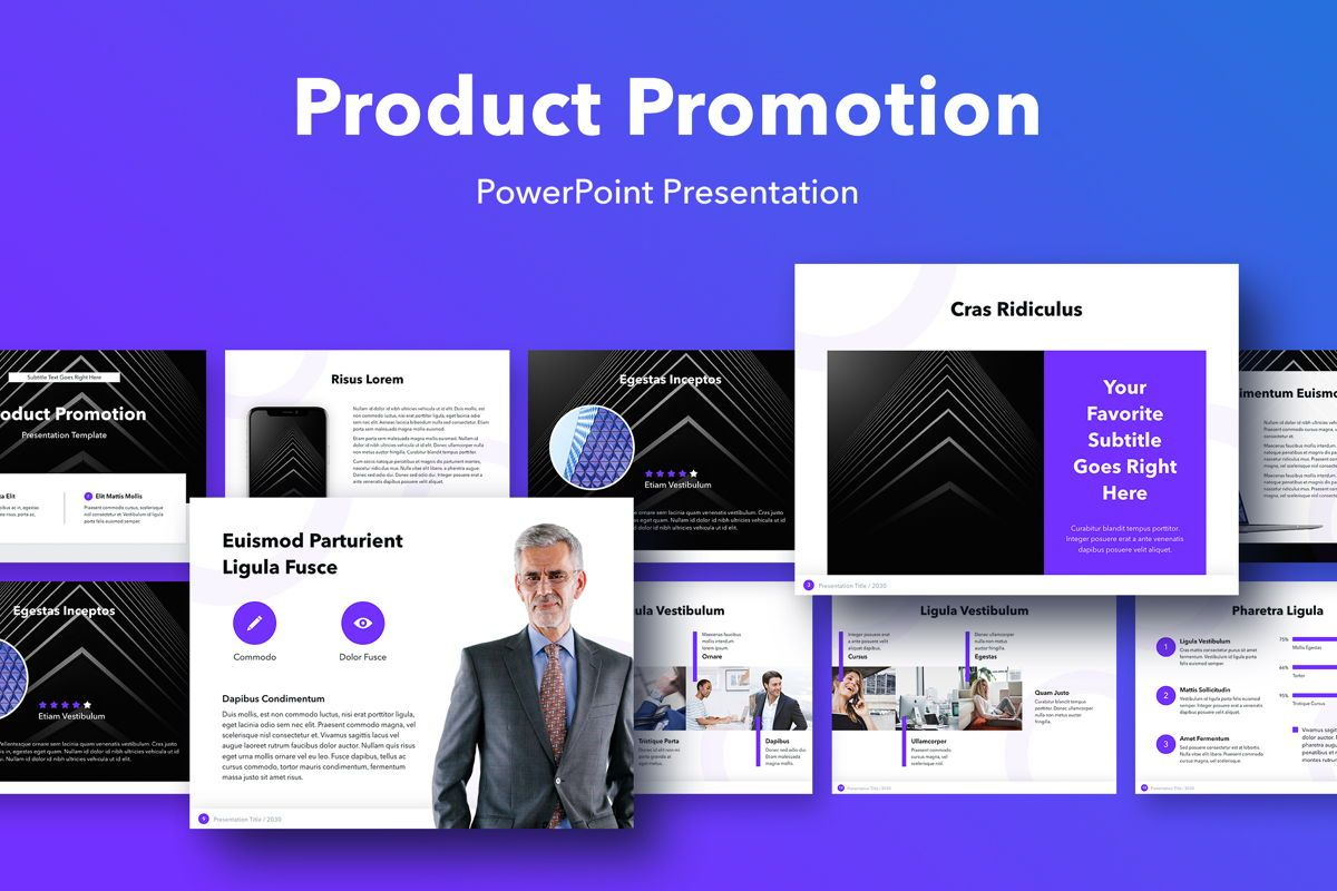Product Promotion PowerPoint Template, 05015, Presentation Templates — PoweredTemplate.com