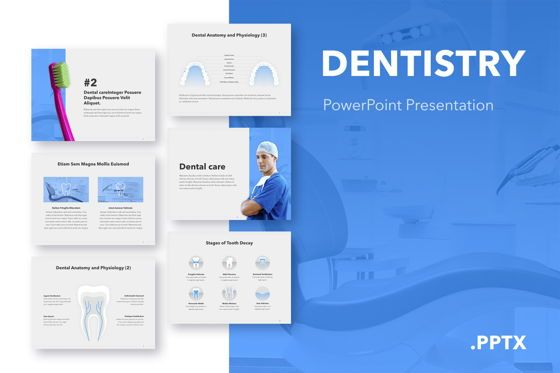 Medical Diagrams and Charts: Dentistry PowerPoint Template #05017