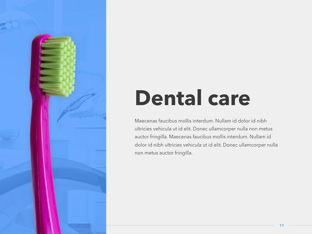 Dentistry PowerPoint Template, Slide 12, 05017, Medical Diagrams and Charts — PoweredTemplate.com