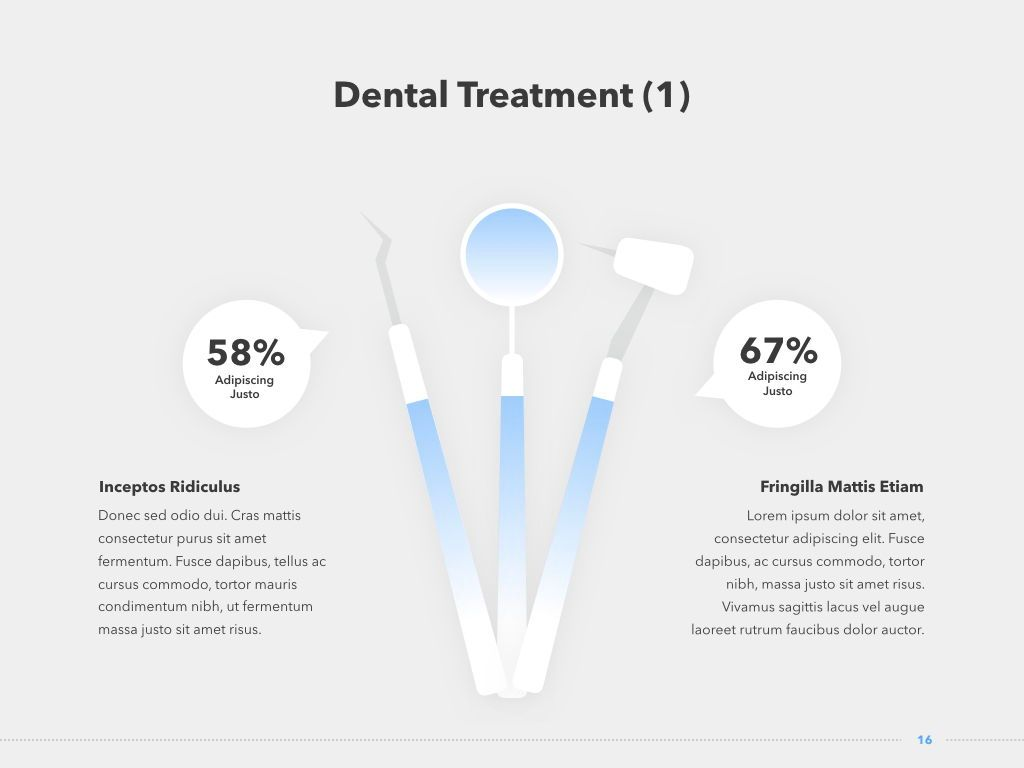 Dentistry PowerPoint Template, Slide 17, 05017, Medical Diagrams and Charts — PoweredTemplate.com