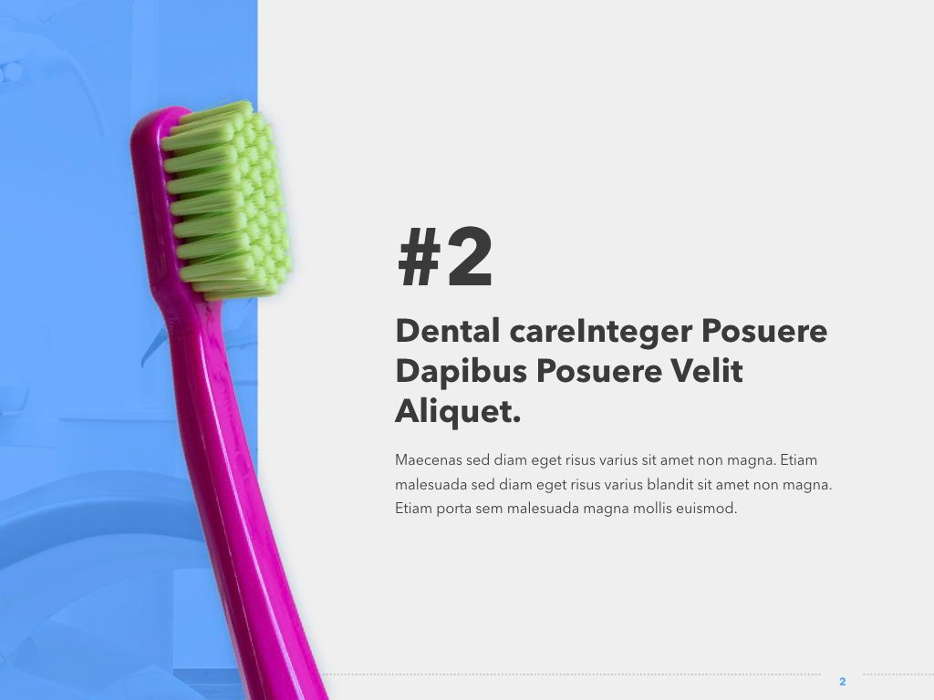 Dentistry PowerPoint Template, Slide 3, 05017, Medical Diagrams and Charts — PoweredTemplate.com