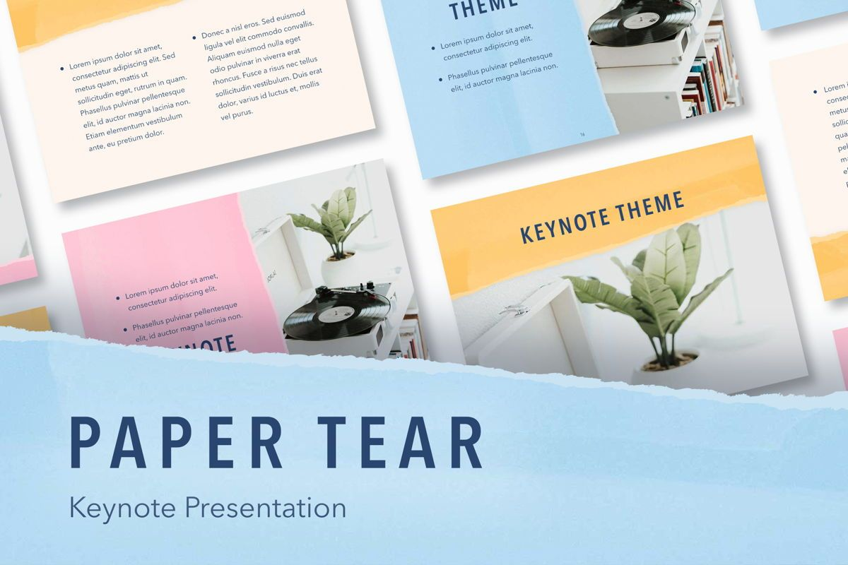 Paper Tear Keynote Template, 05018, Presentation Templates — PoweredTemplate.com