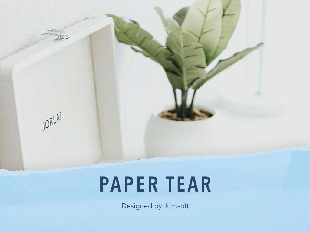 Paper Tear Keynote Template, Slide 2, 05018, Presentation Templates — PoweredTemplate.com