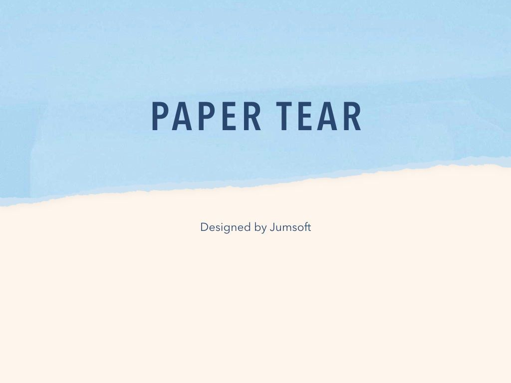 Paper Tear Keynote Template, Slide 3, 05018, Presentation Templates — PoweredTemplate.com