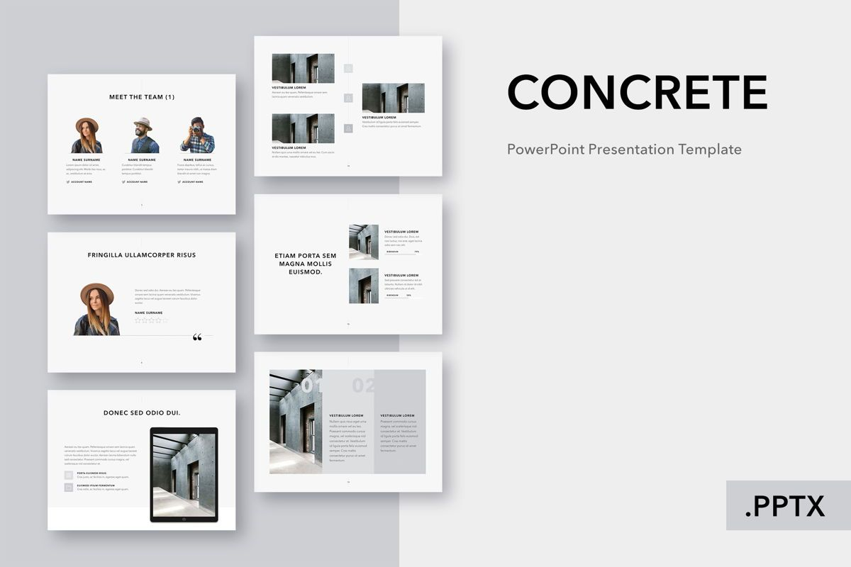 Concrete PowerPoint Template, 05019, Presentation Templates — PoweredTemplate.com