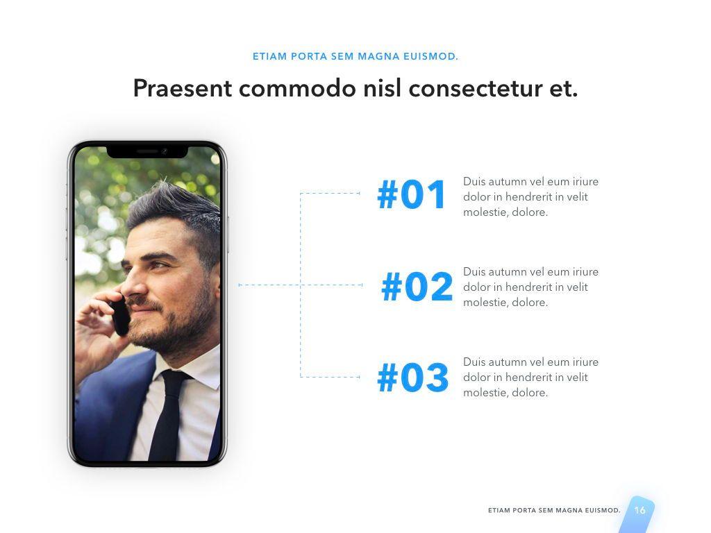 Lined Up PowerPoint Template, Slide 17, 05022, Presentation Templates — PoweredTemplate.com