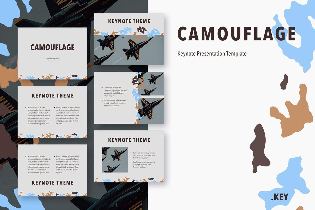 Camouflage Keynote Template, 05026, Presentation Templates — PoweredTemplate.com