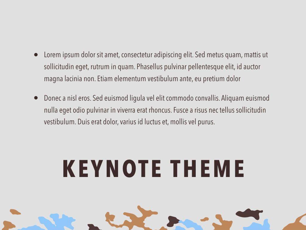 Camouflage Keynote Template, Slide 12, 05026, Presentation Templates — PoweredTemplate.com