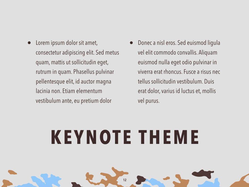 Camouflage Keynote Template, Slide 13, 05026, Presentation Templates — PoweredTemplate.com