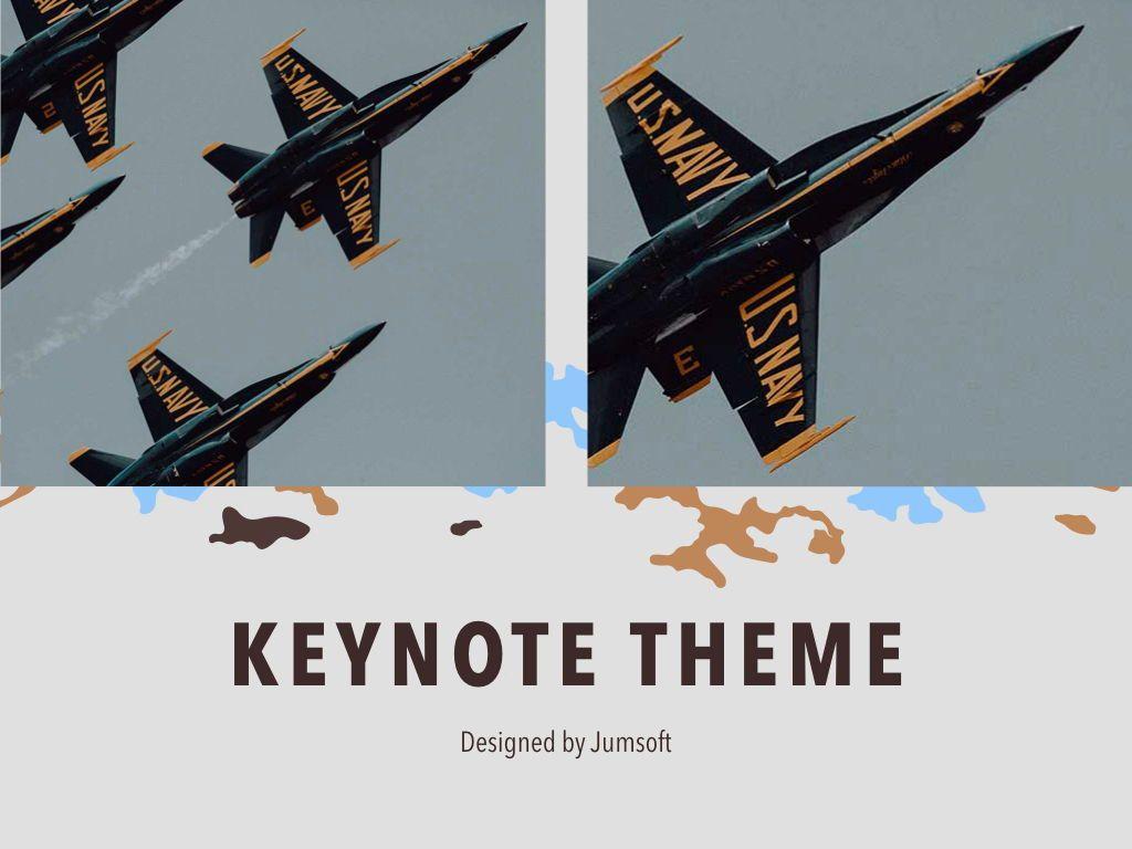 Camouflage Keynote Template, Slide 14, 05026, Presentation Templates — PoweredTemplate.com