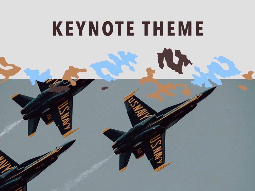 Camouflage Keynote Template, Slide 15, 05026, Presentation Templates — PoweredTemplate.com