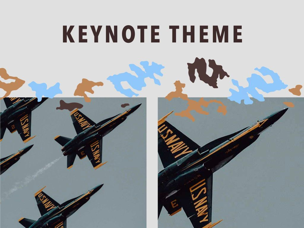 Camouflage Keynote Template, Slide 16, 05026, Presentation Templates — PoweredTemplate.com
